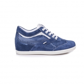 SCARPE CASUAL SNEAKERS DONNA IGI E CO IGIECO ORIGINALE 7781600 BLU PELLE PE NEW
