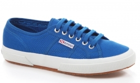 SCARPE SNEAKERS UNISEX SUPERGA ORIGINALE 2750 COTU CLASSIC SHOES ROYAL NEW
