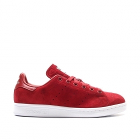SCARPE ADIDAS ORIGINALE STAN SMITH S75237 ROSSO PELLE SHOES UNISEX SCARPETTE NEW