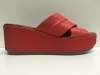SCARPE SANDALI CIABATTE DONNA INUOVO ORIGINAL 6250 RED PELLE ZEPPA LEATHER SHOES