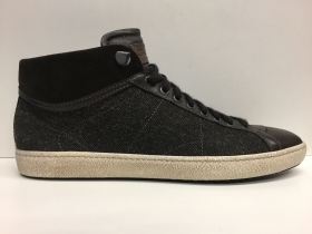 SCARPE SNEAKERS UOMO SANTONI MBNG13304 MARRONE PELLE LEATHER SHOES MAN ORIGINALe