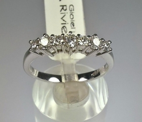 ANELLO DONNA VERETTE ORO BIANCO RIVIELLO ORIGINALE 7 DIAMANTI RING GOLD DIAMONDS