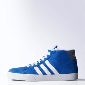 SCARPE SNEAKERS ADIDAS ORIGINAL DAILY ST MID F76514 BLU ROYAL PELLE SHOES UNISEX