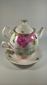 TEIERA TAZZA TEA MIRANDA KERR by ROYAL ALBERT ORIGINAL CERAMICA CUP TEAPOT X ONE