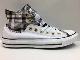 SCARPE SNEAKERS UNISEX CONVERSE ALL STAR ORIGINALE CT LAYER UP 113985 SHOES NEW