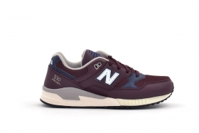 SCARPE SNEAKERS UOMO NEW BALANCE M530LGC BORDEAUX PELLE SHOES AI ORIGINALE