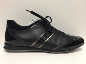 SCARPE CASUAL DONNA GEOX ORIGINALI PISA D93W4D BLACK PELLE SHOES LEATHER RIALZO