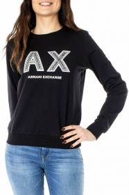 MAGLIA FELPA DONNA AX ARMANI EXCHANGE ORIGINAL 3GYM90 YJZ6Z COTONE P/E 2019 NEW