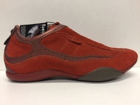 SCARPE CASUAL DONNA GEOX ORIGINAL HOTA D5317A ORANGE PELLE SHOES LEATHER A/I NEW