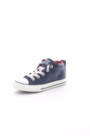 SCARPE SNEAKERS DONNA UOMO CONVERSE ALL STAR STREET 650653C DARK BLUE PELLE AI