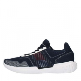 SCARPE SNEAKERS UOMO TOMMY HILFIGER ORIGINAL CORPORATE UNDERLAY RUNNER P/E 2019