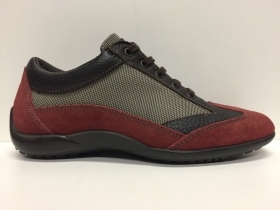 SCARPE CASUAL DONNA SAMSONITE ORIGINAL MIAMI T73MM7 MOKA RED PELLE SHOES LEATHER