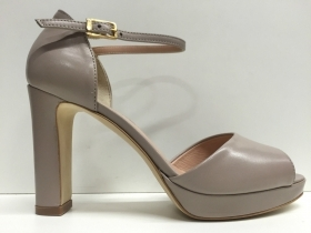 SCARPE DECOLTE' DONNA ROSSOREALE ORIGINAL 505 PELLE TACCO MILANO BEIGE SHOES NEW
