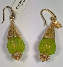 ORECCHINI DONNA ARGENTO 925 RIVIELLO ORIGINAL SFERE PIETRE DURE SILVER EARRINGS