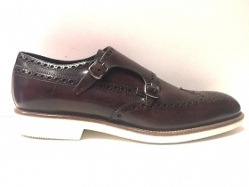SCARPE CASUAL INGLESE UOMO MARIO BRUNI ORIGINALE 59742 PELLE SHOES P/E NEW