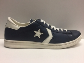 SCARPE SNEAKERS DONNA UOMO CONVERSE ALL STAR PRO LP OX 123223 NAVY PELLE AI