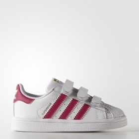 SCARPE SNEAKERS BIMBA ADIDAS ORIGINALE SUPERSTAR FOUNDATION B23639 PELLE AI