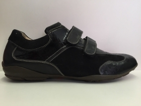 SCARPE CASUAL UOMO LION ORIGINAL DERBY 5472 NERO PELLE LEATHER SHOES BOY STRAPPI
