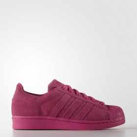 SCARPE ADIDAS ORIGINAL SUPERSTAR J AQ4170 FUXIA PELLE SHOES UNISEX SCARPETTE NEW