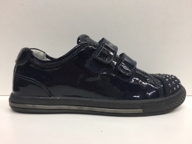 SCARPE BIMBA NERO GIARDINI JUNIOR ORIGINALI P308900 PELLE VERNICE SHOES LEATHER