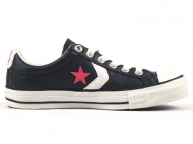 SCARPE SNEAKERS DONNA UOMO CONVERSE ALL STAR STAR PLAYER 107872 NAVY RED PELLE