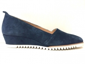 SCARPE MOCASSINO CASUAL DONNA CINZIA SOFT ORIGINAL PELLE BLU P/E 2018 NEW
