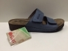 SCARPE CIABATTE SANDALO DONNA FLORANCE ORIGINAL 22002 PELLE SHOES BLU NEW