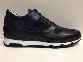 SCARPE CASUAL SNEAKERS UOMO UGO ARCI 06D 636 NERO BLU 85 SHOES PELLE NEW