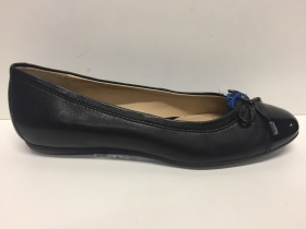 SCARPE BALLERINE SABOT DONNA GEOX ORIGINAL LOLA D93M4A NERO PELLE SHOES LEATHER