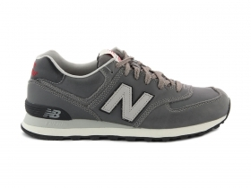 SCARPE SNEAKERS UNISEX NEW BALANCE ML574UKG GRIGIO SHOES PELLE ORIGINALE