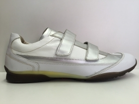 SCARPE CASUAL UOMO LION ORIGINAL 7112 BIANCO PELLE VITELLO LEATHER SHOES STRAPPI