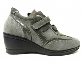 SCARPE SNEAKERS CASUAL DONNA KEYS ORIGINALE 8532 PELLE A/I NEW