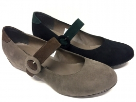 SCARPE BALLERINA DONNA PATRIZIA RIGOTTI ORIGINALI 2326 PELLE SHOES LEATHER ZEPPA